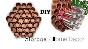diy copper honey comb makeup organizer home decor made with
