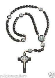 catholic rosary necklace benedict medals catholic rosary necklace black wood