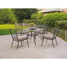 5 patio set mainstays grayson court 5 patio set walmart