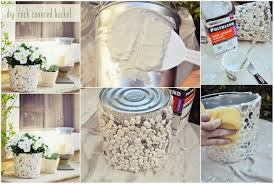 diy pebbles bucket flower pot diy craft projects