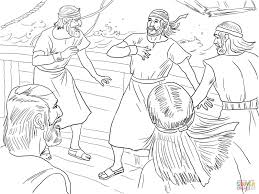 jonah boat storm coloring free printable