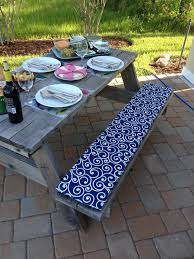 Outdoor Dining Bench by Outdoor Dining Bench Cushion Scrolled Pattern Bench Cushion Cover