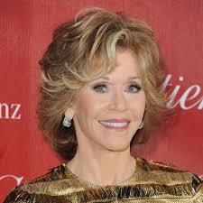 jane fonda voluminous mid length waves