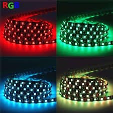 led ribbon wholesale black pcb led light 12v 5m 300 leds smd 5050 diode