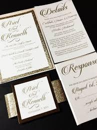 Layered Wedding Invitations Blush And Gold Elegant Glitter Wedding Invitation Ariel Version