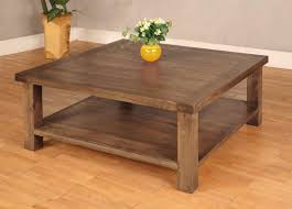 square wood coffee table for ambience of living room