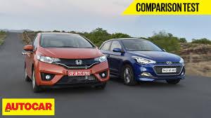 honda car comparison 2015 honda jazz vs hyundai elite i20 comparison test autocar