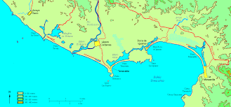 Map Of Mexico Coast by Map Of Melaque Coastal Area Jalisco