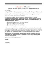 cover letter marketing executive