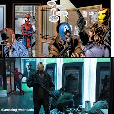 spider man homecoming masked robbery scene comic roots