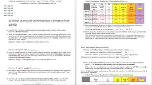 lab report worksheet what are the kinetics of an chegg com