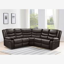 Corner Sofas With Recliners Recliner Corner Sofa In Brown Bonded Leather