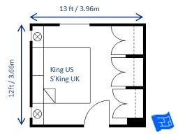 Bedroom Size Requirements Small Bedroom Design For King Size Bed Size 12 X 13ft The