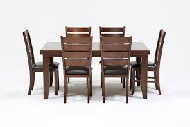 7 Piece Dining Room Sets Bradford 7 Piece Dining Set W Bardstown Side Chairs Living Spaces