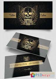 Business Card Layout Psd Tattoo Salon V1 Business Card Templates Psd Free Download