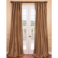 these solid gold nugget faux silk taffeta curtains are an