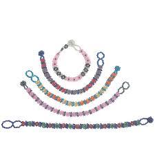 handmade flower bracelet images Flower shaped glass bead bracelets from guatemala fair trade jpg