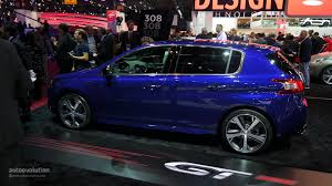 peugeot used car prices sporty peugeot 308 gt debuts in paris pricing announced live