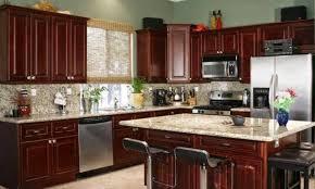 kitchens with dark cabinets dark cherry kitchen cabinets in casual craft 1 hsubili com flat