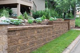 Terraced Retaining Wall Ideas by Block Retaining Walls Hold Soil Or Backfill And Help Prevent The