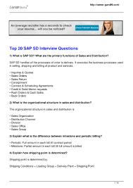 Sap Fresher Resume Sample Sap Sd Resumes Virtren Com