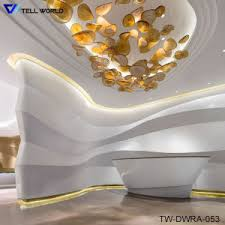 Hair Salon Reception Source Quality China Spa Reception Desk In White Vinyl Or Leather High Gloss