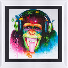 patrice murciano liquid resin paint large artwork monkey dj