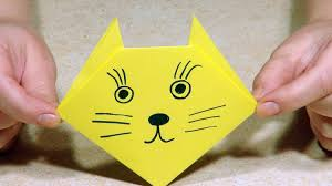 origami for kids origami cat youtube