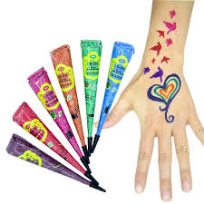 wholesale colored henna tattoo paste cream cones indian mehndi