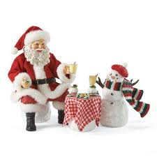 possible dreams santa santa and snowman eggnog set possible dreams figurine 4022360