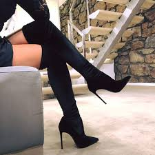 click to buy selling pointed toe boot click to buy selling stretch the knee boot in velvet