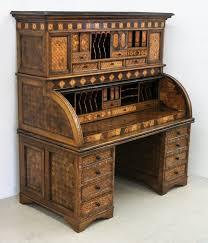 Japanese Desk Meiji Japanese Inlaid Wood Roll Top Desk