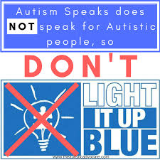 autism speaks light it up blue if you light it up blue for autism you re supporting autism speaks