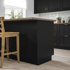 ikea kitchen cabinet back panel lerhyttan cover panel black stained 15x41 3 4 ikea