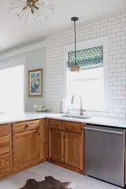 oak kitchen cabinets hardware oak cabinets 6 ways to alter the look megan