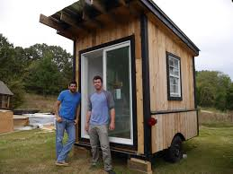 Small House Cabin A Tiny Tailgating House Cabin On Wheels A 60 Square Foot Diy