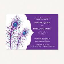 Peacock Wedding Programs Purple Peacock Wedding Invitations With Peacock Feathers