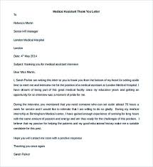 medical assistant thank you letter medical cover letter for