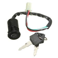 Ignition Part 2 Universal Motorcycle Ignition Switch Motor Bike 4 Wires With 2