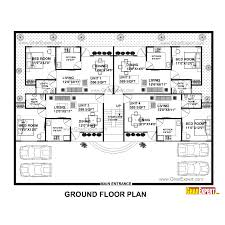 apartment plan apartment plan for 75 feet by 58 feet plot plot size 483 square