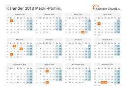 Kalender 2018 Feiertage Mv Feiertage 2018 Meck Pomm Kalender