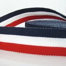 navy blue and white striped ribbon 10yards 1 patriotic white navy blue stripe grosgrain ribbon