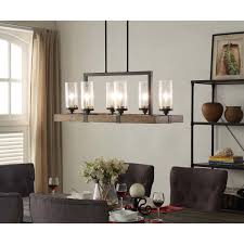 Rectangular Dining Room Light Fixtures Illuminate Your Home With The Rustic Charm Of The Vineyard 6 Light