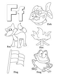 free alphabet coloring pages words of f alphabet coloring pages