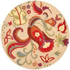 safavieh natural fiber tan beige 6 ft x 6 ft round area rug