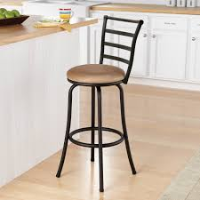 Backless Counter Stool Leather Furniture Oak Swivel Bar Stools With Back With Leather Seat For