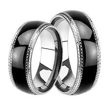 wedding bands for him affordable his hers wedding rings set black plated bands him