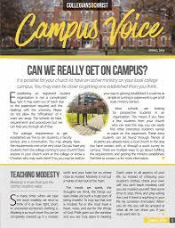 the campus voice u2013 collegians for christ