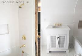 our new jack and jill bathroom plan emily henderson