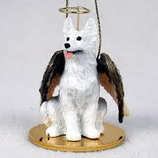 german shepherd figurine ornament statue painted